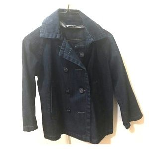 Jean jacket with peacoat buttons
